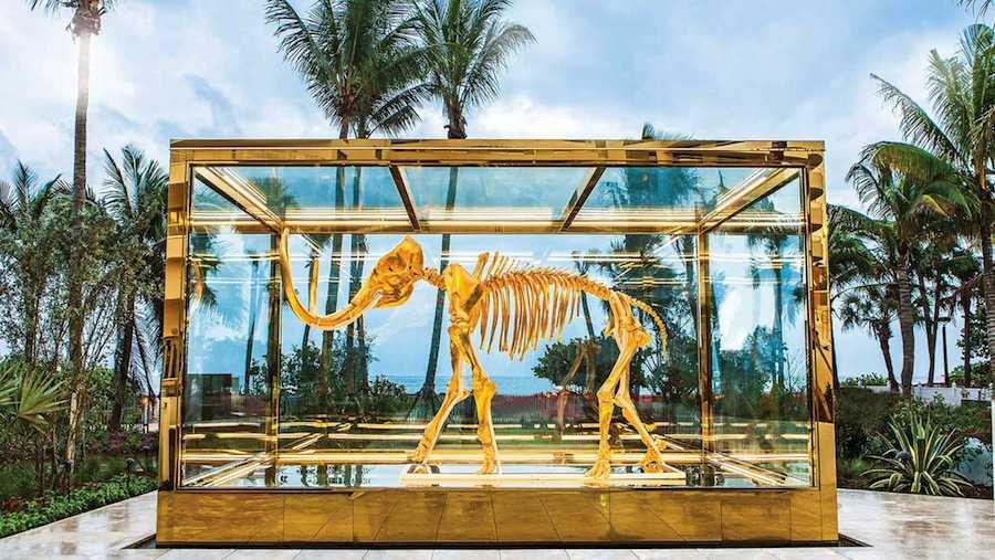 Ten unexpected creature in Miami: Damien Hirst's Glided mammoth @ Faena Hotel Miami Beach - Photo by Faena Hotel Miami Beach.