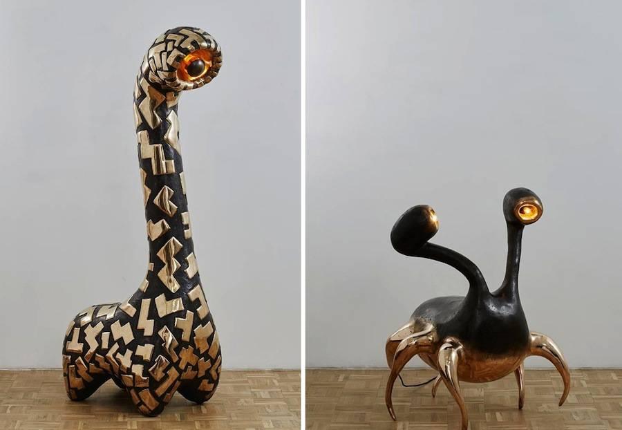 "From left: ""Le Bone Lebone"" and ""Maotwana Finyela"" by Atang Tshikare, - Courtesy of Southern Guild."