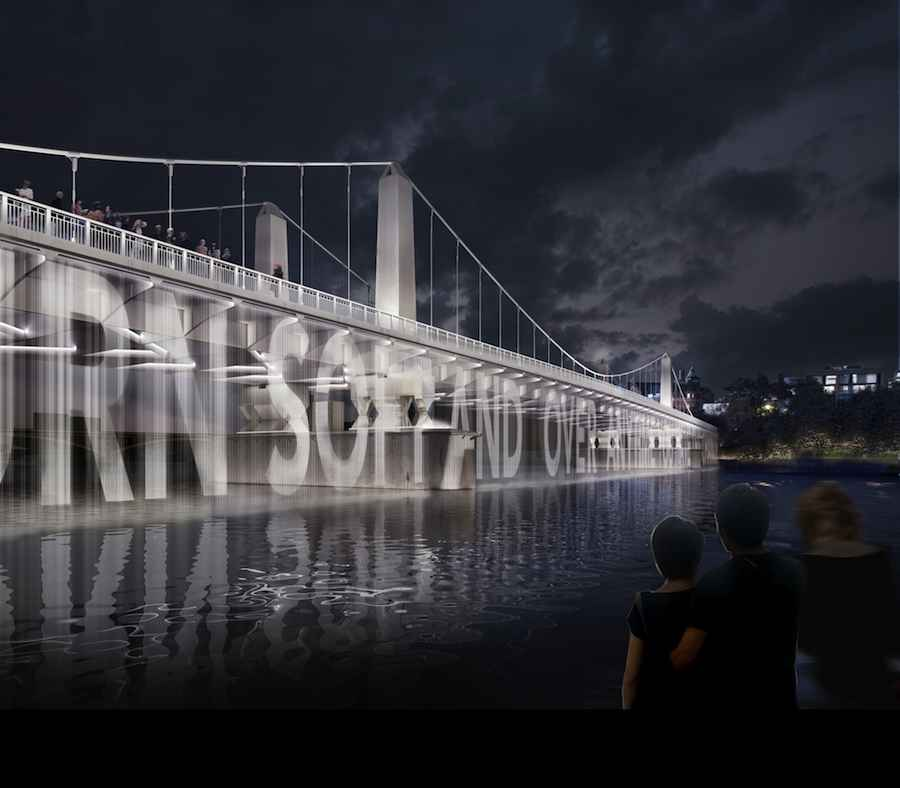 Diller Scofidio + Renfro - lighting projections on Chelsea bridge.