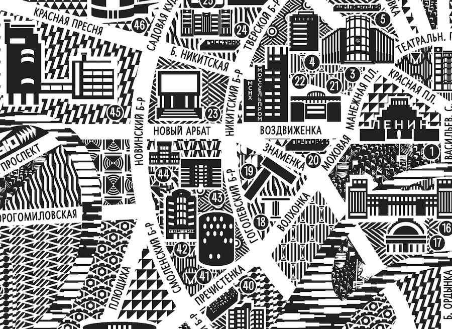 Dizaino Studija Baklazanas: New Moscow Map.