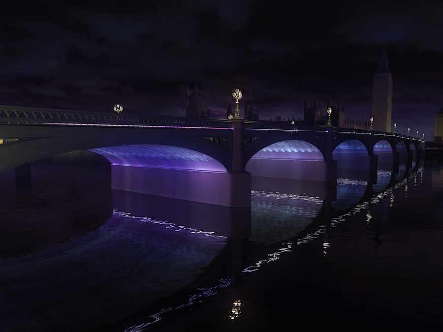 Leo Villareal, Lifschutz Davidson Sandilands and curators Future\Pace - Westminster bridge lighting installation.
