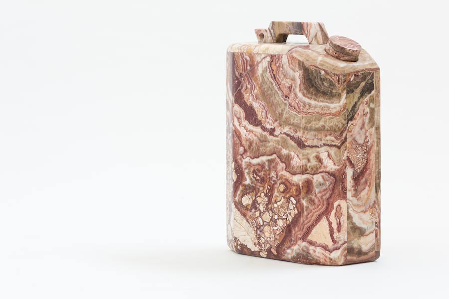 "Plusdesign gallery: ""Making relics"" marble tanks by Will West - Photo: courtesy of Plusdesign gallery."