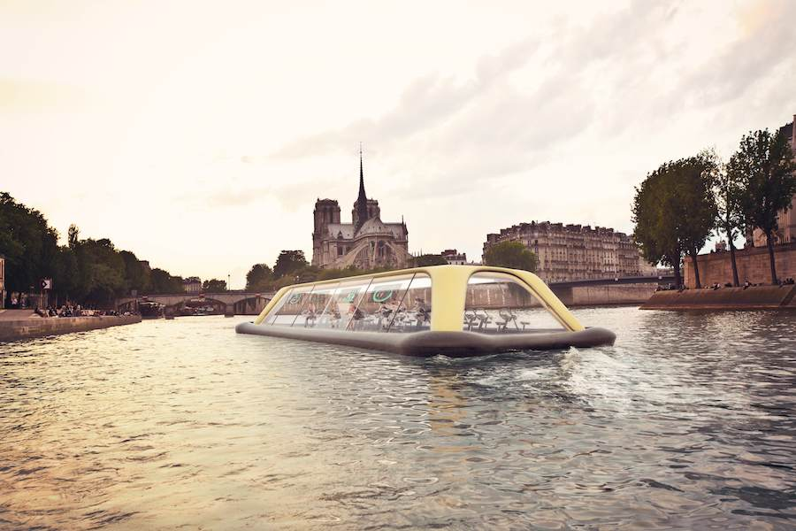 Future water mobility - Paris Navigating Gym by Carlo Ratti Associati.