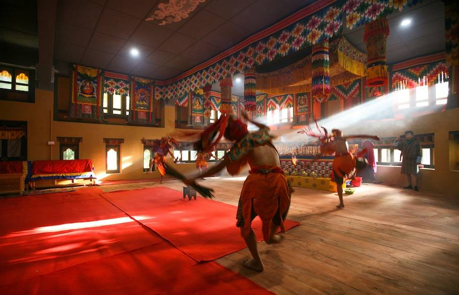Bhutan Happiness Center by Hoang Thuc Hao and 1+1>2. Photo by Son Vu, courtesy of Hoang Thuc Hao.