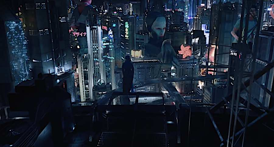 Ghost in the Shell - Frame from the official trailer.