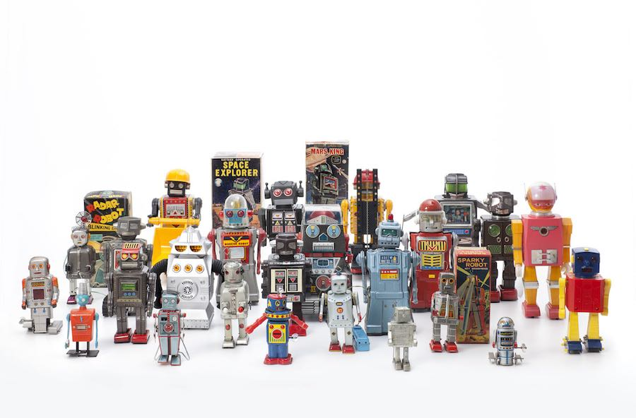 History of toy robots, 1956 –1980; private collection. Photo by Andreas Sütterlin.