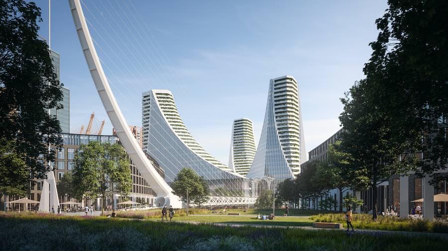 Future Grenwich Peninsula - Photo: by ©Uniform, courtesy of Santiago Calatrava.
