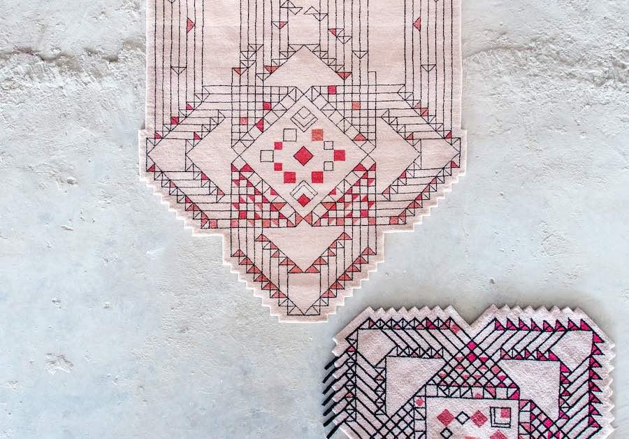 FBMI rug design created in collaboration with Aljoud Lootah - Courtesy of Design Days Dubai.