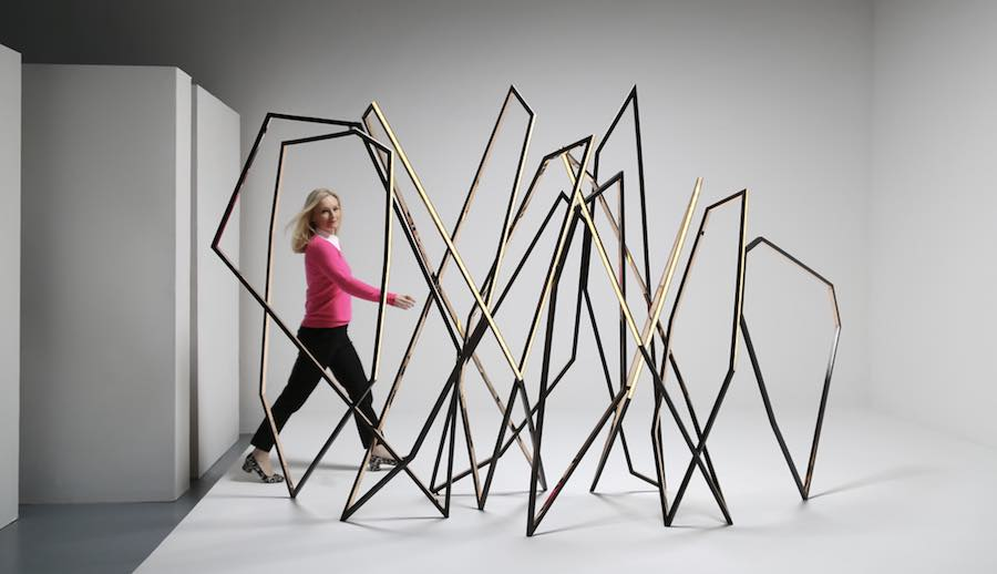 "Niamh Barry ""Walking' free-standing screen-sculpture"" - ©Todd Merrill."