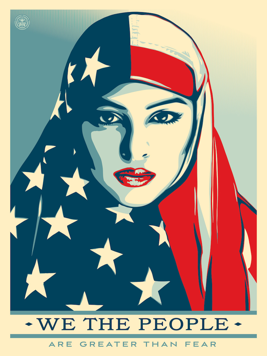 "Shepard Fairey: ""Greater than fear"" - Image by Amplifier Foundation."