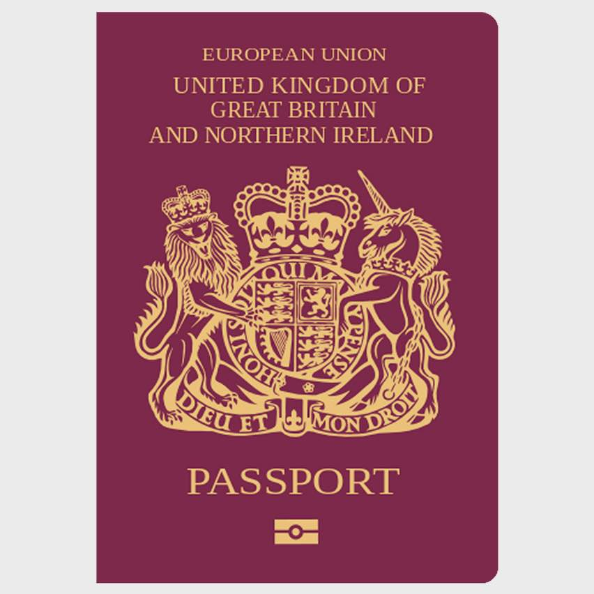 Current EU British Passport.