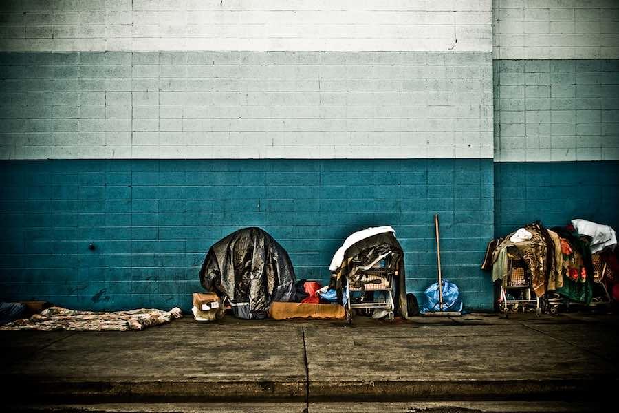 """LA Homeless """"designless"""" setting."""