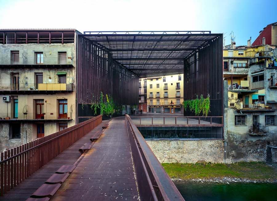 RCR Arquitectes: La Lira Theater Public Open Space, 2011, Ripoll, Girona, Spain, In collaboration with J. Puigcorbé - Photo by Hisao Suzuki.
