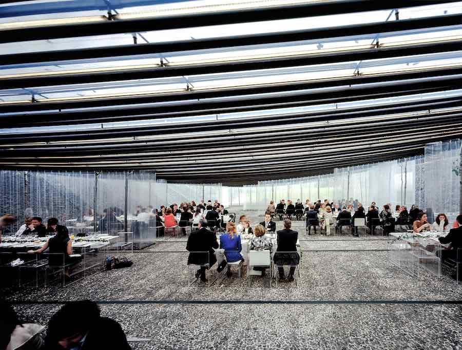 RCR Arquitectes: Les Cols Restaurant Marquee 2011 Olot, Girona, Spain - Photo by Hisao Suzuki.