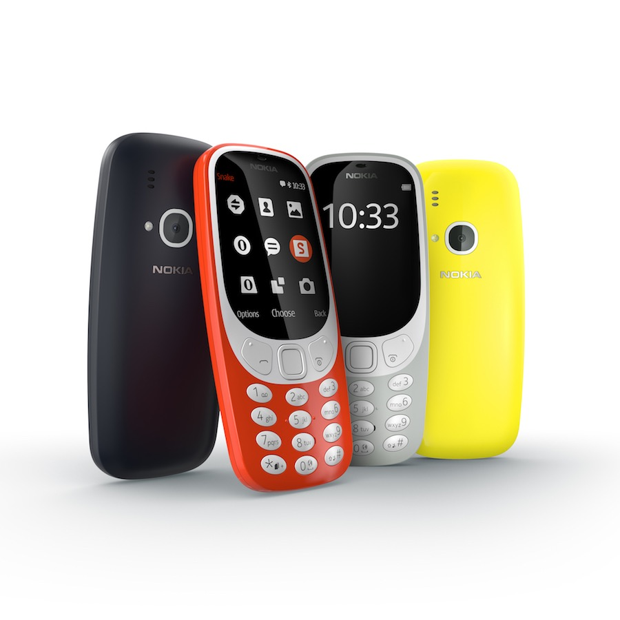 Nokia 3310 range - Cpurtesy of HMD.