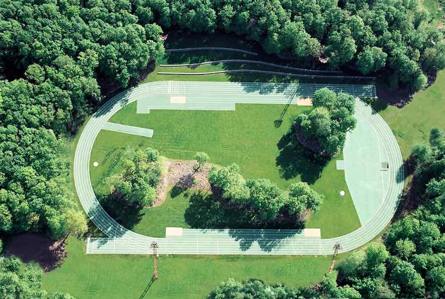 RCR Arquitectes: Tossols-Basil Athletics Track 2000 Olot, Girona, Spain - Photo by Ramon Prat.