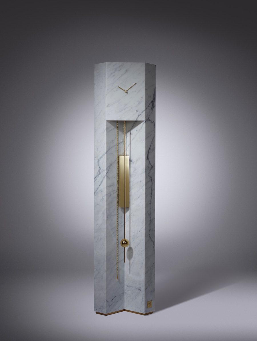 Lee Broom's Time Machine Grandfather Clock - Photo by Arthur Woodcroft.