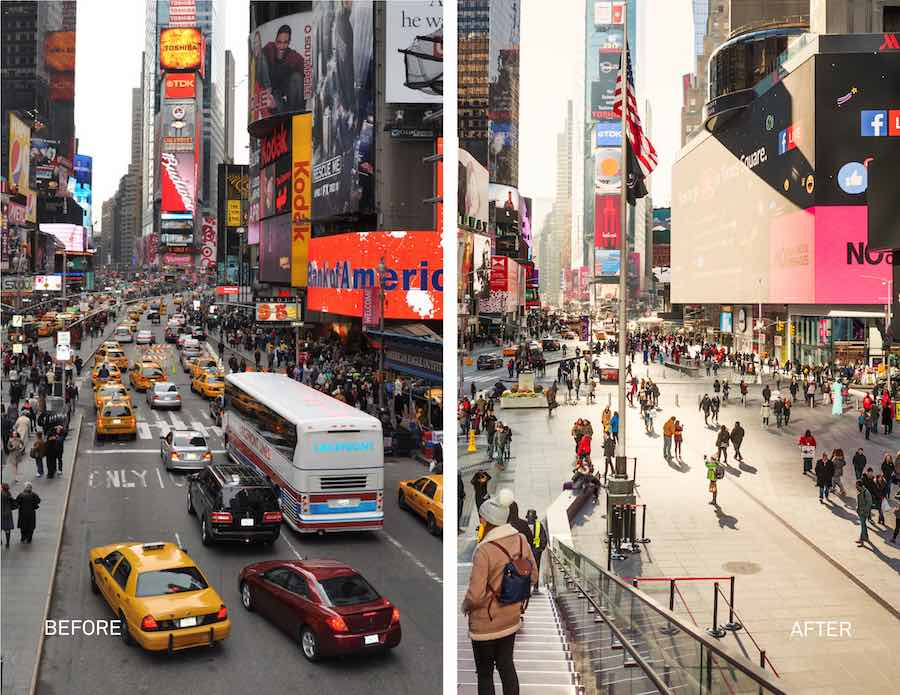 Time Square redesign by Snøetta - Image by MIcheal Grimm, courtesy of Snøetta.