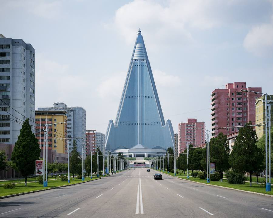 Ryugyong Hotel - Photo by Raphael Olivier.