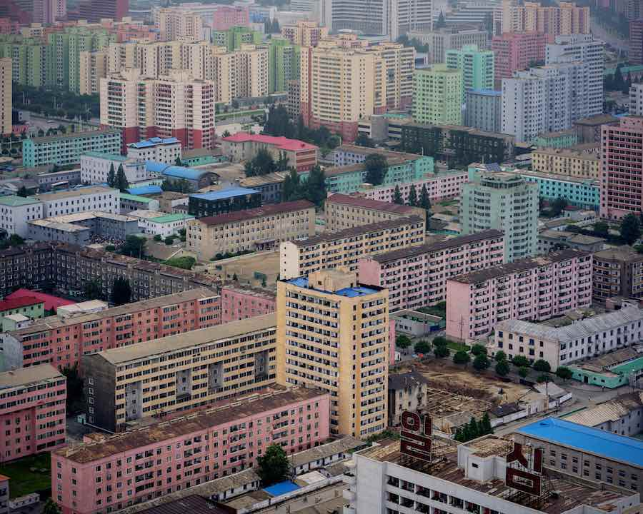 East Pyongyang from the Juche Tower - Photo by Raphael Olivier.