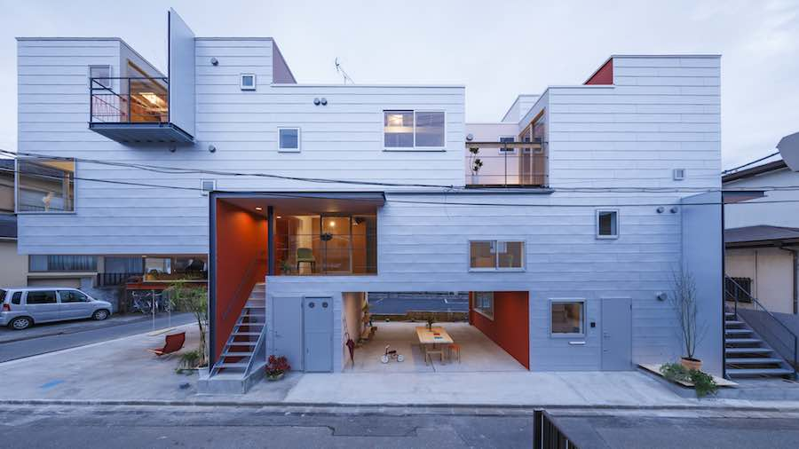 Around the Corner Grain building by Eureka and Maru Architecture - Photo by Ookura Hideki, courtesy of Eureka.