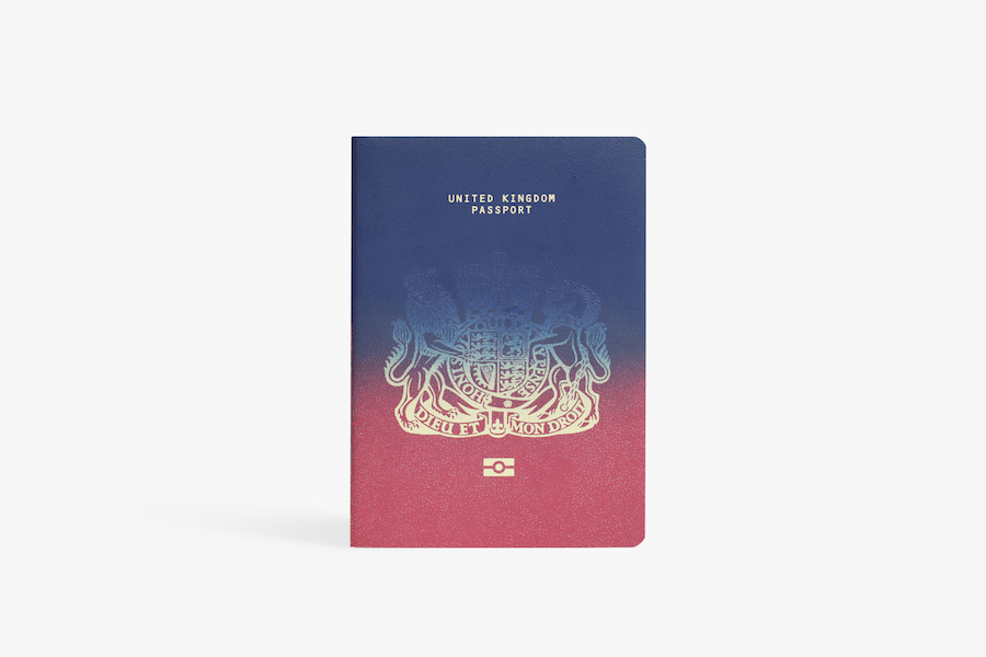 Dezeen's Brexit passport design competition, winning proposal by Ian Macfarlane - Photo: courtesy of Dezeen.