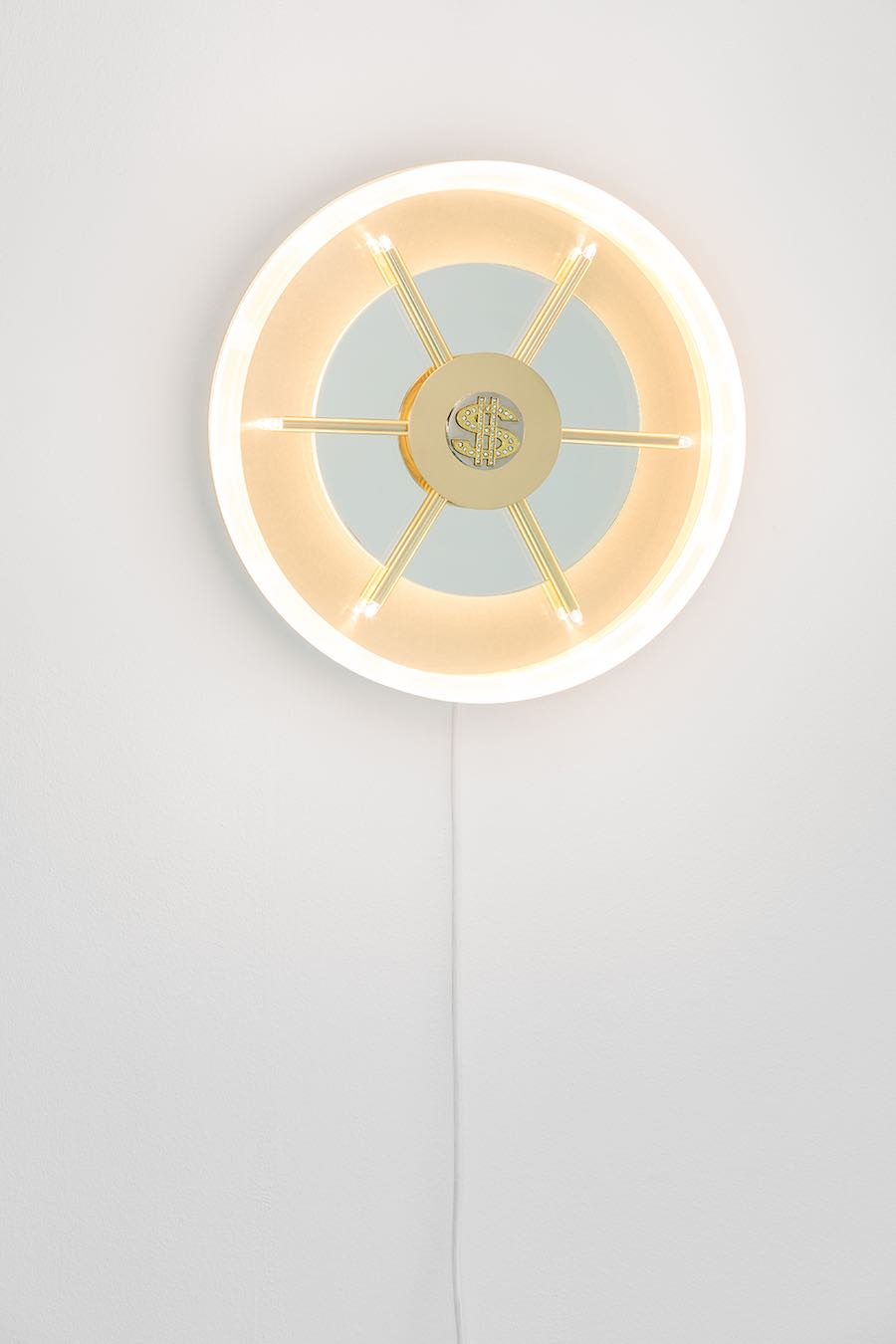 GOD exhibition, Caveau wall lamp - Photo by Atelier Biagetti.