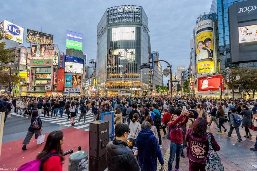 Shibuya Crossing - Photo by Benny Ang.