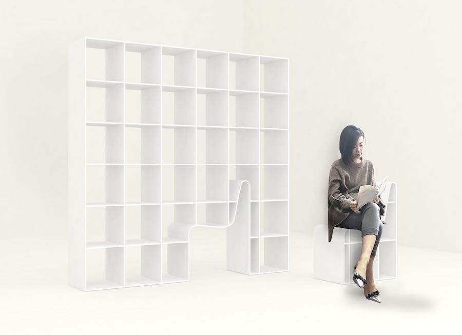 BOOKCHAIR, Sou Fujimoto for Alias - Image: courtesy of Alias.