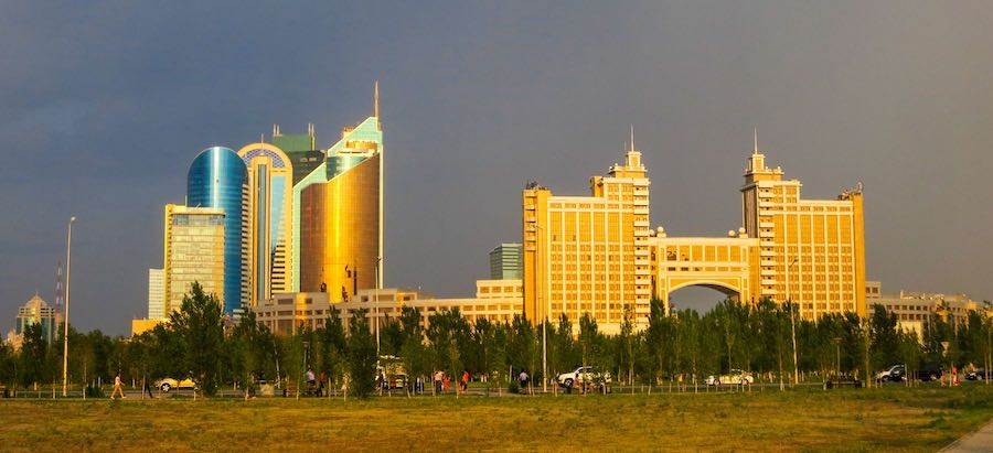 Astana at Golden Hour - Photo by Ninara, CC BY 2.0