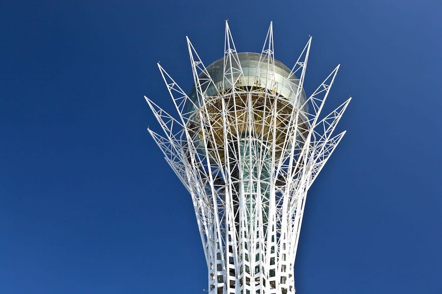 Bayterek Tower, Astana - Photo by Ninara, CC BY 2.0.