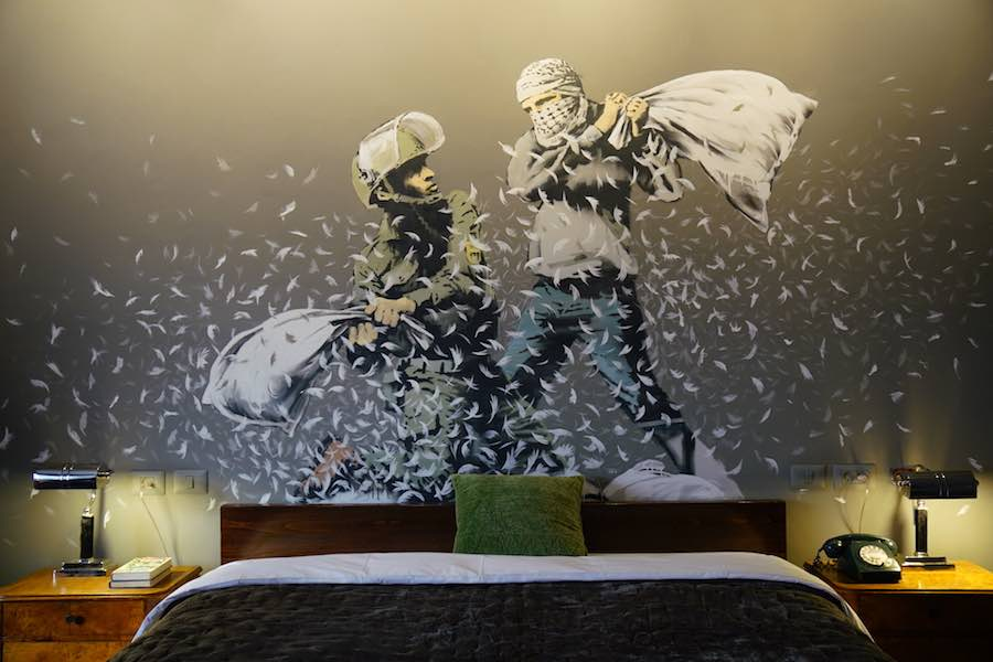 Walled Off Hotel - Photo: courtesy of the Walled Off Hotel and Banksy.