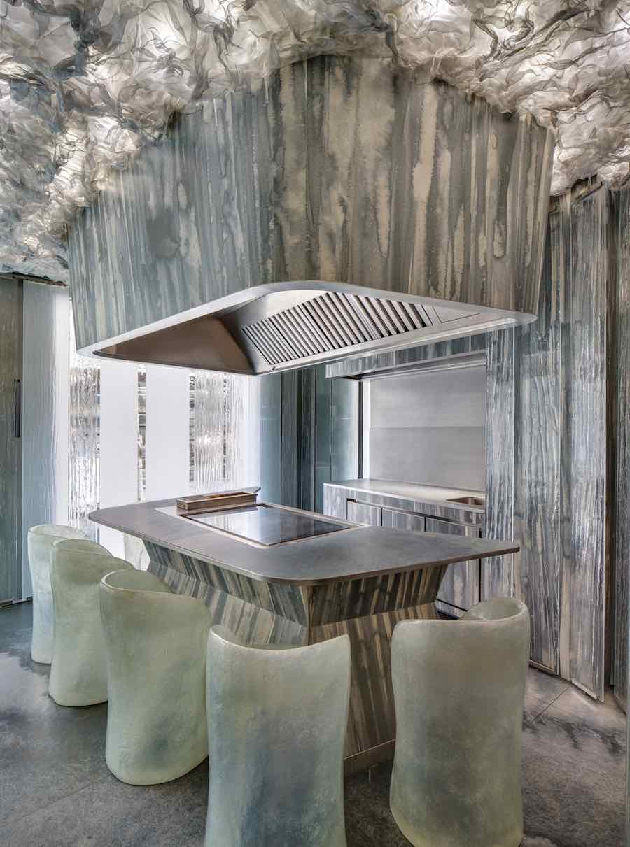 ENIGMA restaurant by Albert Adrià, RCR Arquitectes and P. Limona - photo by Jordi Adrià, courtesy of Neolith® by TheSize.