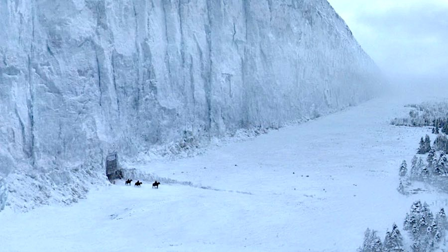 The Northern Wall - Photo via Games of Thrones Wiki.