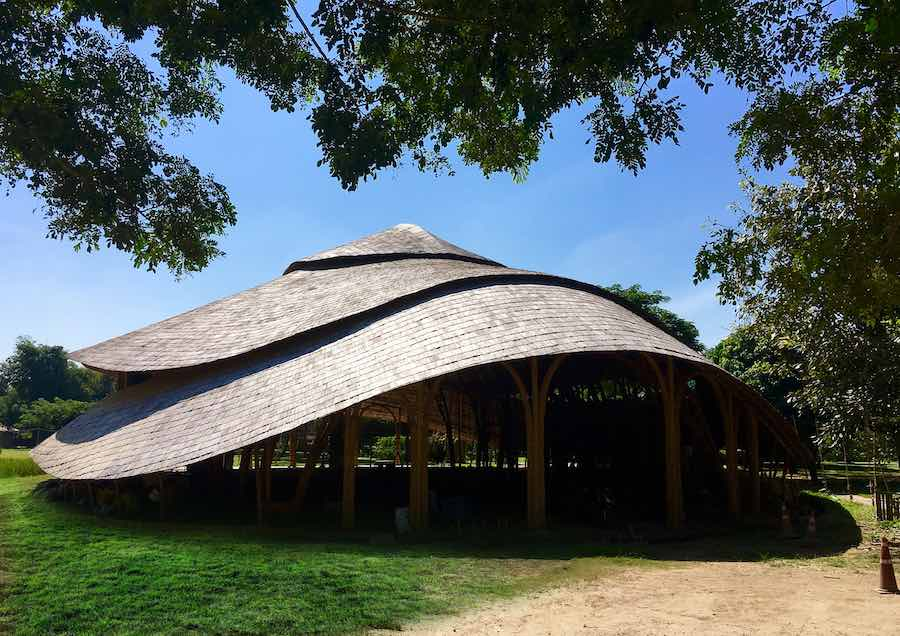 Bamboo Sports Hall @ Panyaden School - Photos by Markus Roselieb; courtesy of Chiangmai Life Architect.