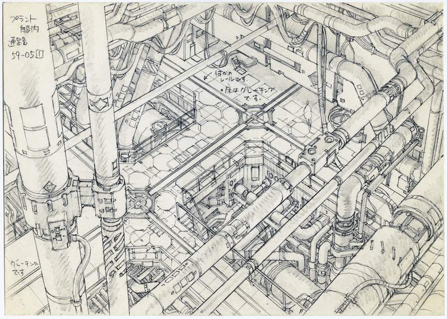 Anime Architecture - Concept Design 2 for Ghost in the Shell 2 - Innocence by Takashi Watabe © 2004 Shirow Masamune, KODANSHA · IG, ITNDDTD