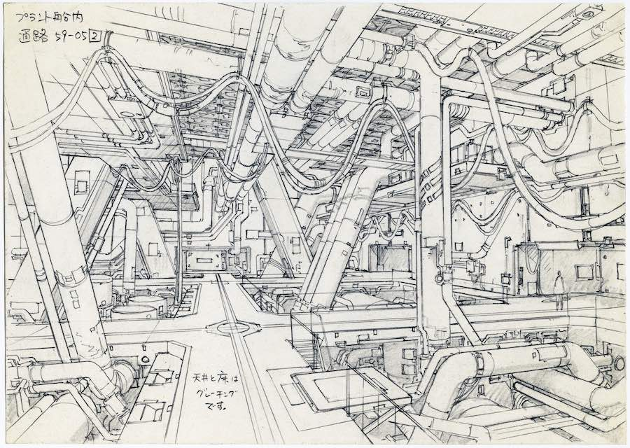 Anime Architecture - Concept Design for Ghost in the Shell 2 - Innocence by Takashi Watabe © 2004 Shirow Masamune, KODANSHA · IG, ITNDDTD