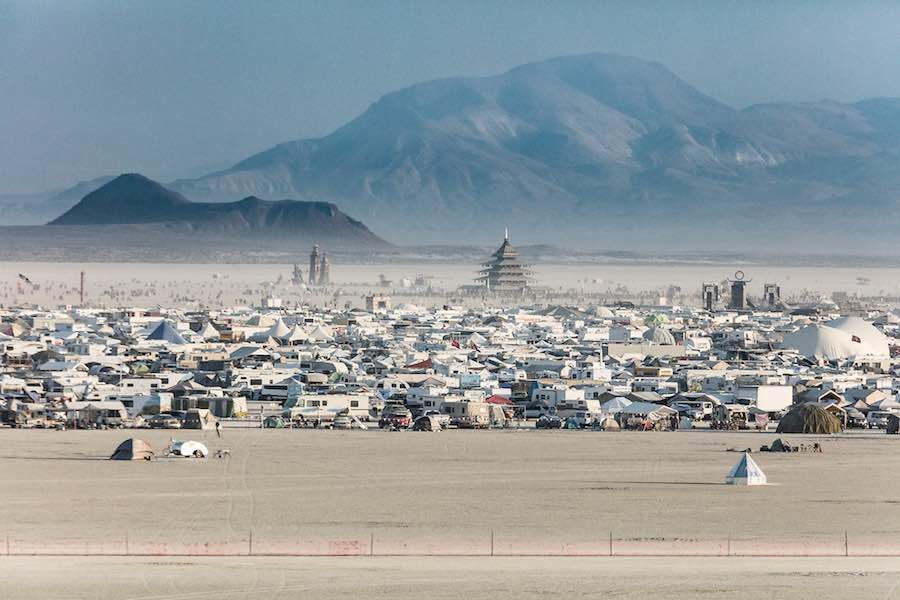 Black Rock City – Photo by Duncan Rawlinson (duncan.co), CC, Burning Man 2016.