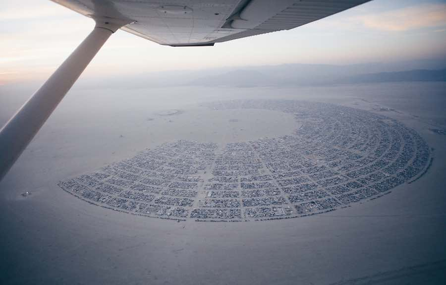 Black Rock City - Photo by Duncan Rawlinson (duncan.co), CC, Burning Man 2016.