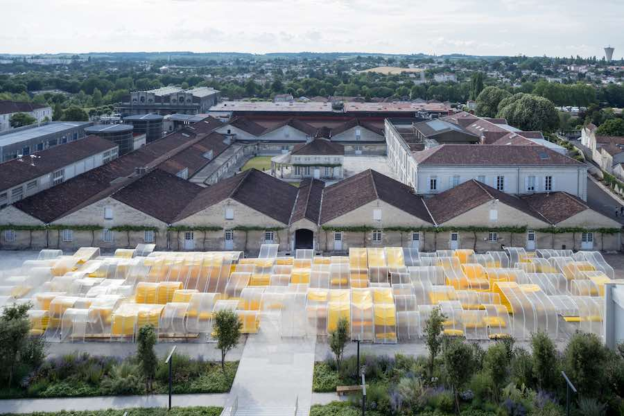 SelgasCano's pavilion for Fondation d'enterprise Martell, Cognac, France - Photo by Iwan Baan.