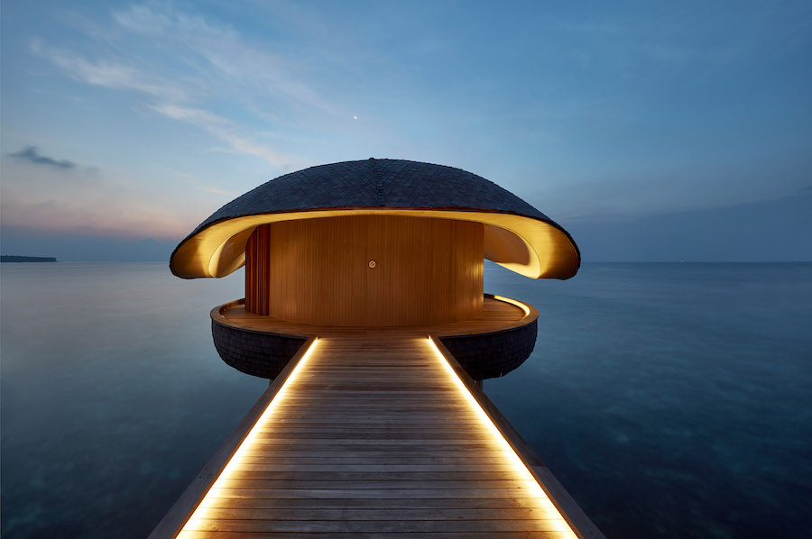 St. Regis Maldive Vummuli Resort by WOW Architects - photo: courtesy of WOW Architects and World Architecture Festival.