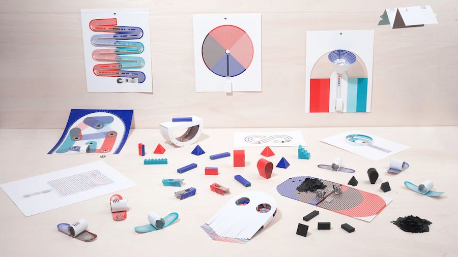 Papier Machine by Marion Pinaffo and Raphael Pluvinage.