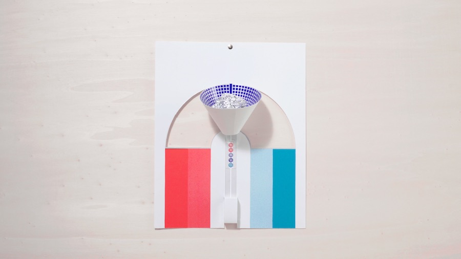 SWITCH Papier Machine by Marion Pinaffo and Raphael Pluvinage