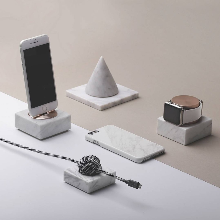 Native Union DOCK marble collection - Photo by @nativeunion IG