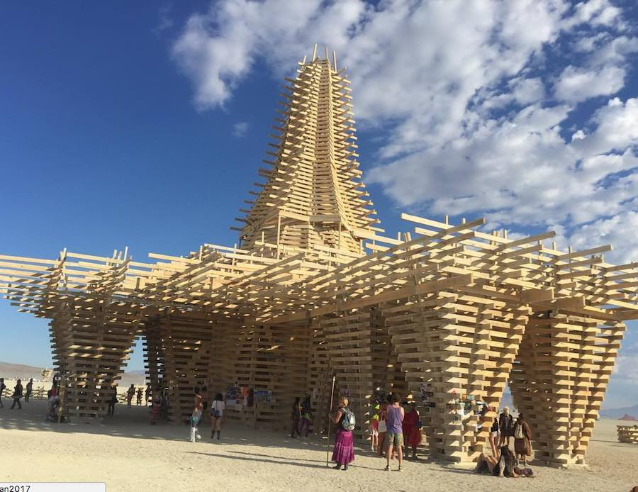 Burning Man 2017: The Temple - Photo by @dianaplac, IG.