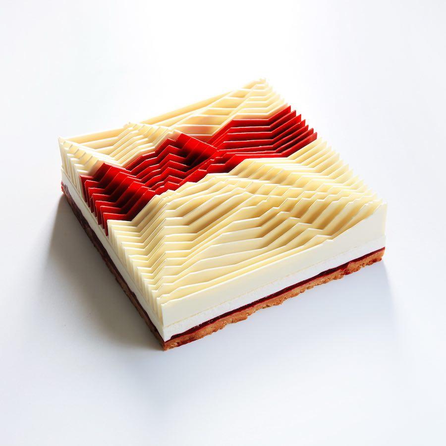 Kinetic Geometric Cake - Photo by Dinara Kasko.