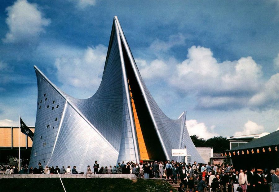 PHILIPS Pavilion by Iannis Xenakis @ Expo 58