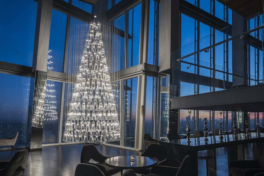 "Lee Broom's Christmas ""Tree of Light"" - Photo by David Cleveland. Courtesy of Lee Broom."