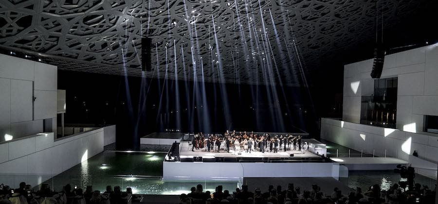 Inauguration of Louvre Abu Dhabi – The Insula Orchestra, perform during the opening ceremony.