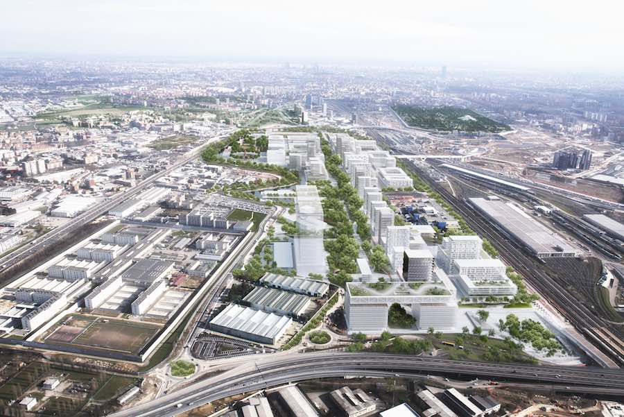 Bird's eye view of Carlo Ratti's masterplan for Milan's World Expo site - Image by Carlo Ratti Associati.